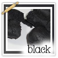 Black playdough activities