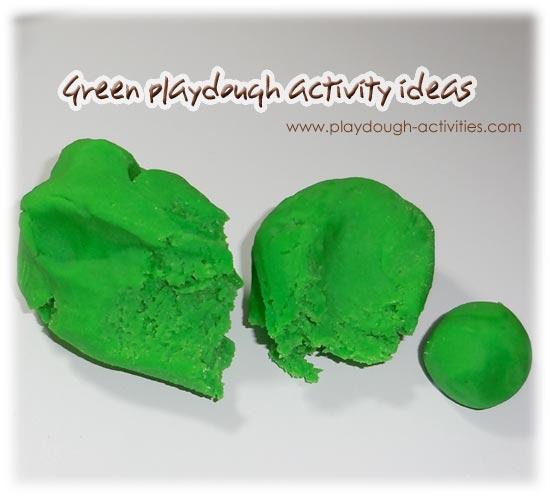 Green playdough activity ideas