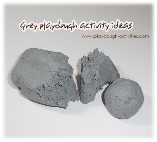 Grey playdough activity ideas