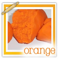 Orange playdough activities