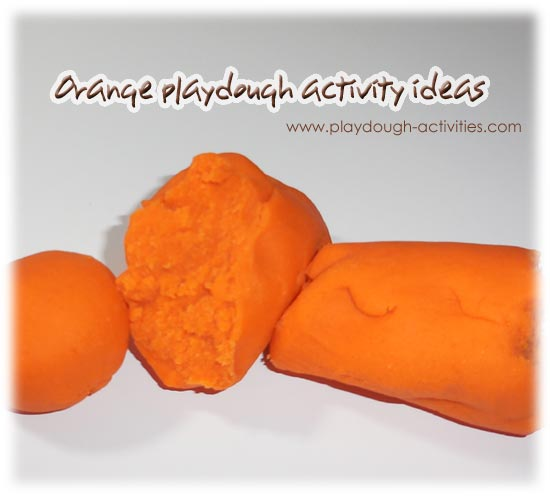 Orange playdough activity ideas