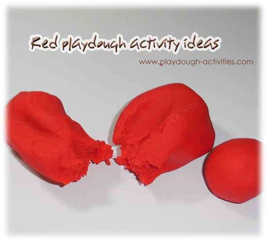 Red playdough activity ideas