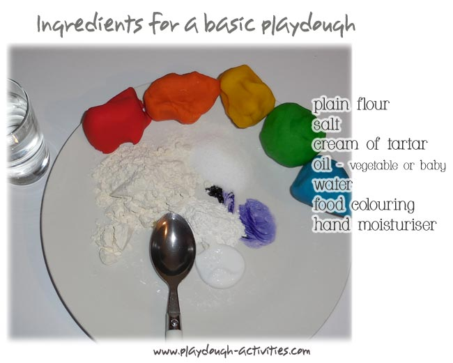 Ingredients for playdough
