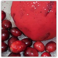 Cranberry playdough recipe - festive Christmas and Yule ingredients