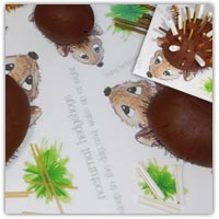 Hedgehog prickles playdough activity