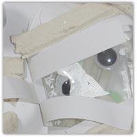 Mummy wraps playdough cutting activity