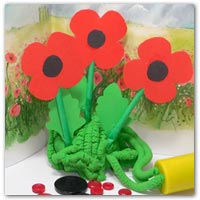 Poppy printables and playdough activity ideas