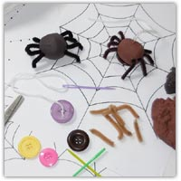 Spiderweb playdough mat printables