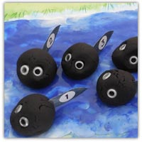 Spring time tadpole playdough counting activities
