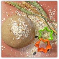 Whole wheat brown playdough recipe