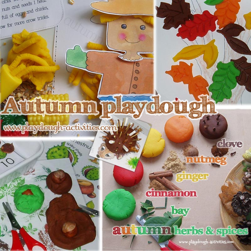 Autumn themed playdough ideas