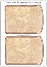 slices of bread toast - playdough mat printable