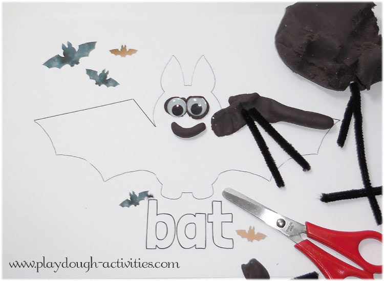 Bat playdough activity
