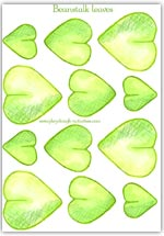 Beanstalk leaf printable for adding character to playdough activities
