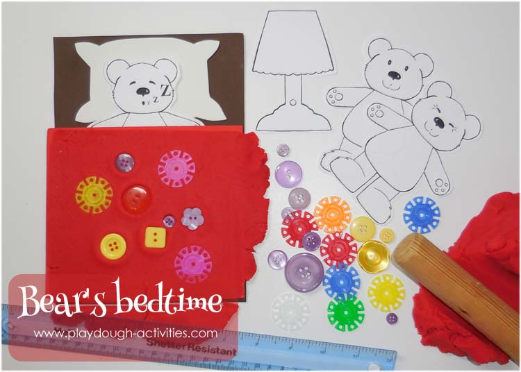 Bedtime Bear's duvet cover design
