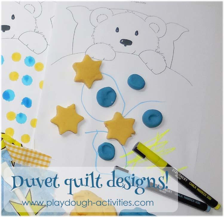 Playdough patterns and Bear's bedding!