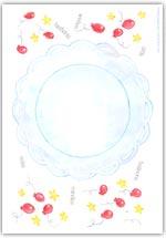 Playdough birthday cake mat printable