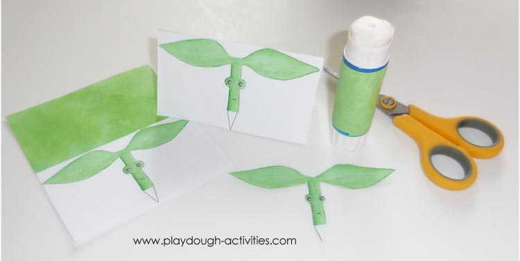 Making Bowtruckle puppets