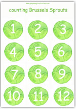 Brussels sprouts playdough activity sheet 1 - 12