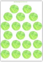 Brussels sprout playdough mat