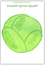 Giant brussels sprout playdough mat