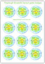 Brussels Sprout Game badges