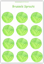 Brussels sprouts playdough mat