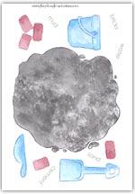 Colour cement mixing - playdough mat