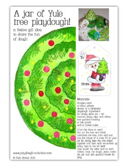 Christmas tree playdough gift set - printables to personalise