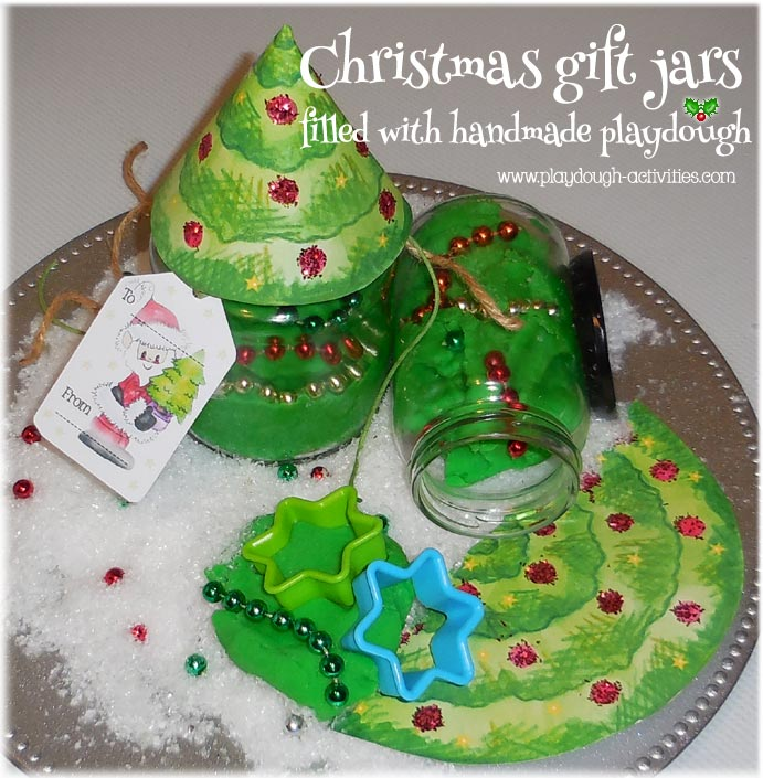 Handmade Christmas playdough gift sets