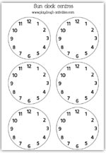 Clock faces to decorate the suns