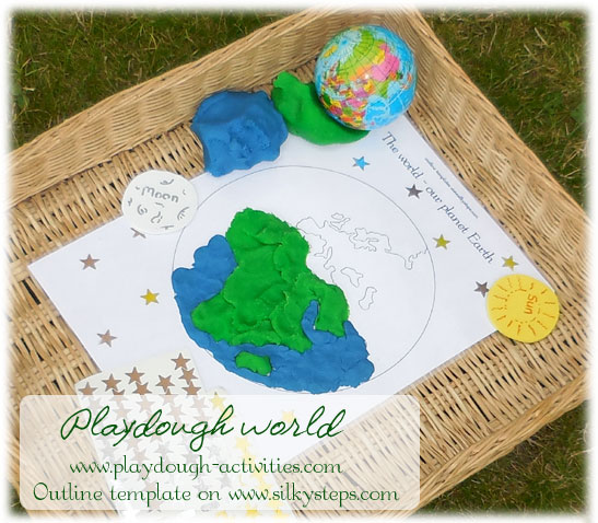 Theworld outside - take playdough activities to all areas of play