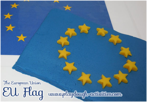 The EU European Union flag playdough activity