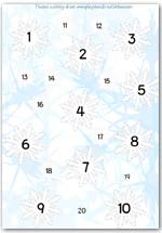 Frozen activity sheet - counting playdough snowflakes