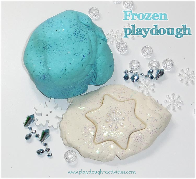 Frozen themed playdough activity