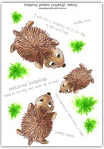 Click to view and print the full sized hedgehog playdough mat