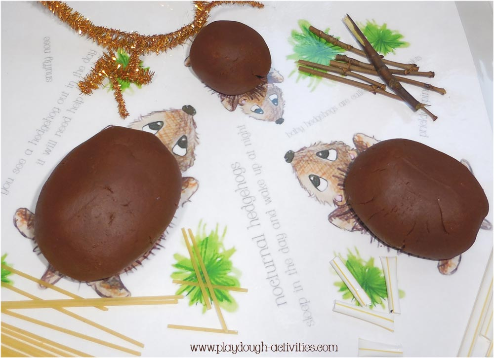 Hedgehog playdough activities