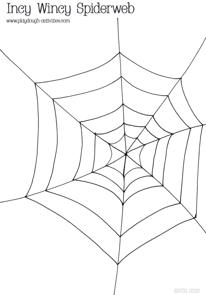 Cobweb Spiderweb Playdough Mat Outline Template