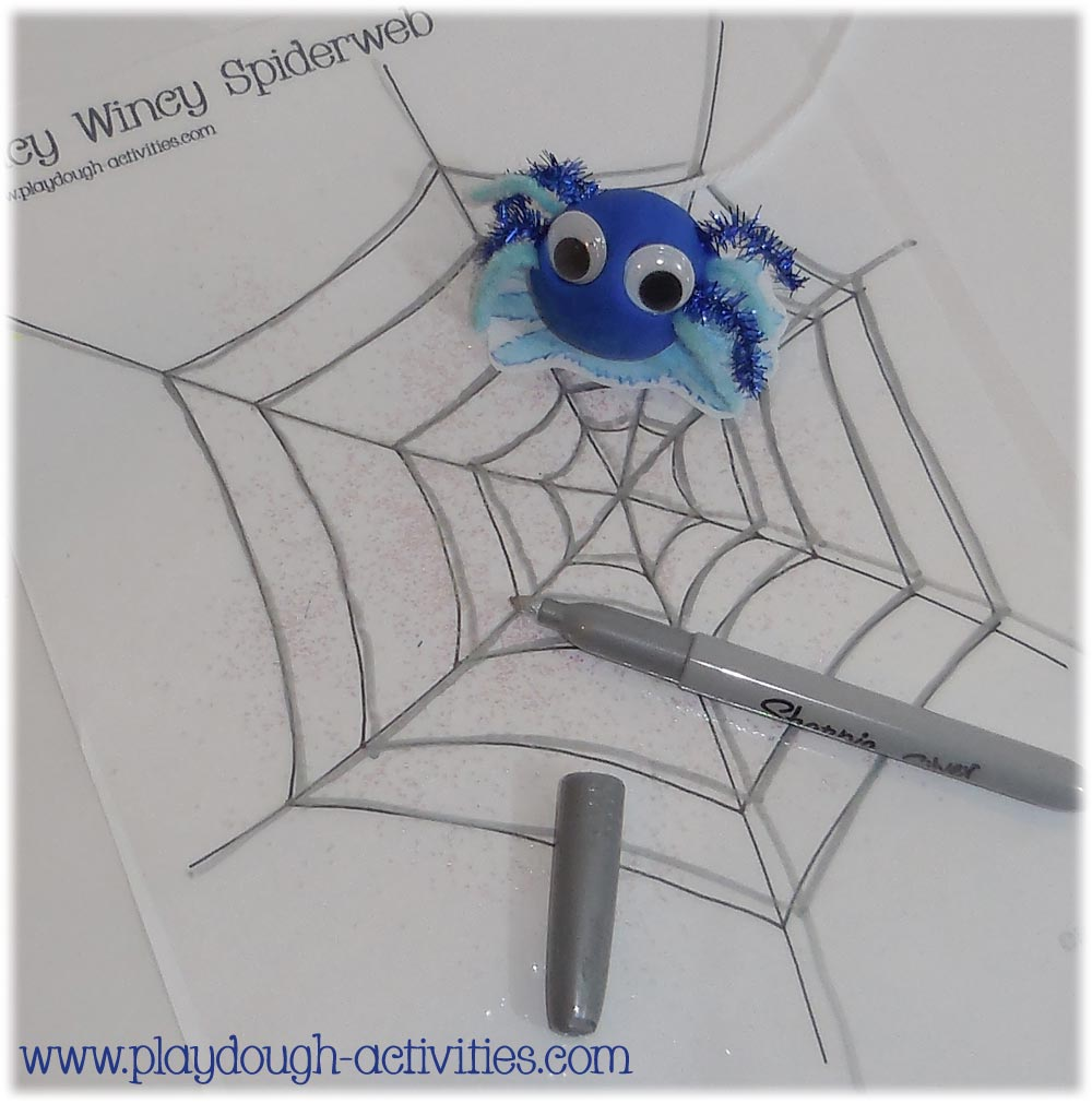 Incy Wincy spider playdough nursery rhyme