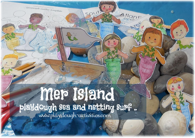 Mr Island - playdough and loose media activity for preschool, nursery and play at home