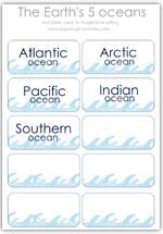 Ocean name cards