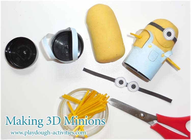 Making 3d Minions from playdough