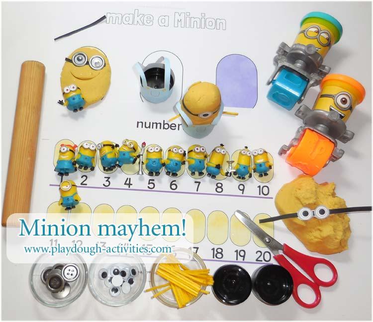 Despicable Me fan art - Minions playdough activities