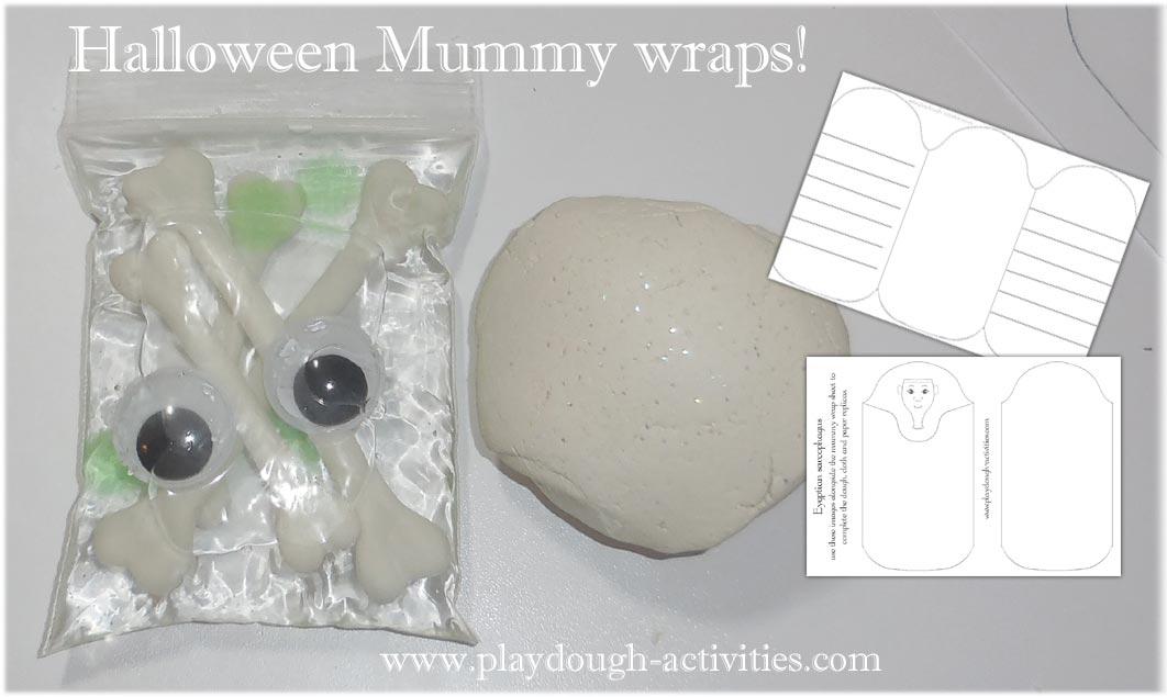 Mummy wraps playdough activity resources