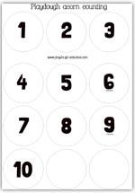 Number discs 1 to 10