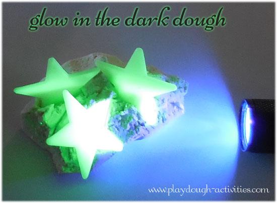 glow inthe dark playdough activities