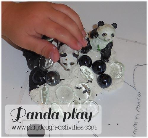 panda bear playdough activities - preschool nursery math