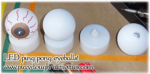 Ping pong eyeball LED candle lights