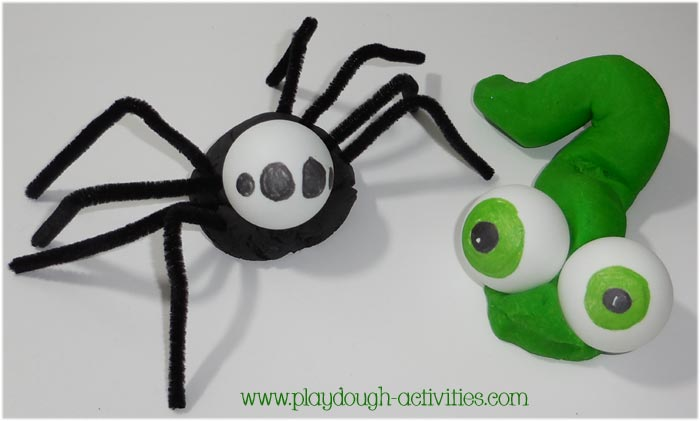 Ping pong ball eyes for insects, bugs and creepy crawlie creatures