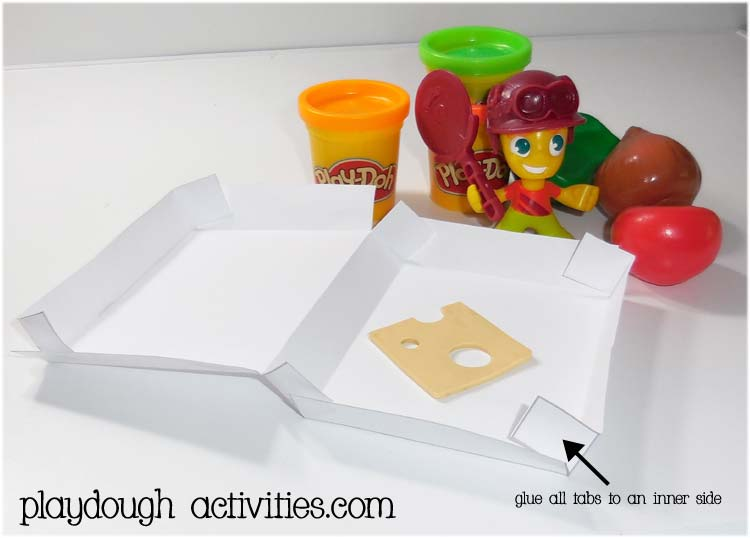 Playdough pizza box printable